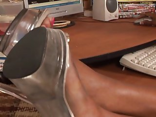 IR Black Masturbation Foot Play and Blow Job