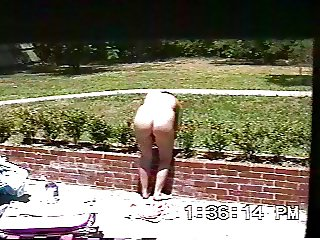 nude yard work
