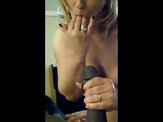 Married woman is a true cum slut!