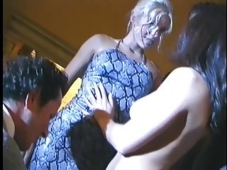 Kinky foursome fucking in bedroom
