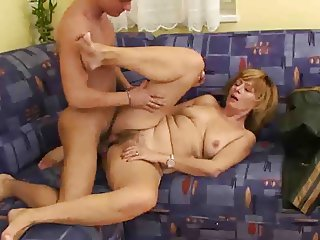 Older Woman fuck Young Boy