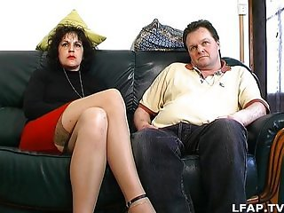 Hairy french mature gets sodomized