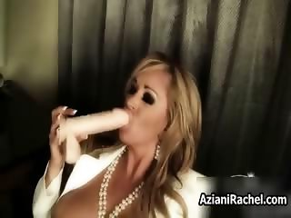 Hot blonde milf gets horny sucking part6