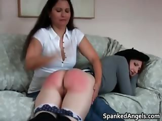 Two hot horny nasty MILF brunette babes part5
