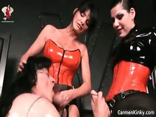Kinky dude is sex slave to weird part1