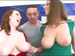 Big Natural Boobs - Redhead And Brunette!!!!!!!