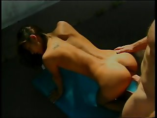 Very hot latina fucks hard outdoors and takes load on face