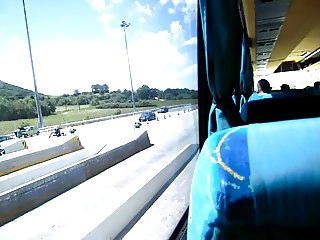 into the bus one day..