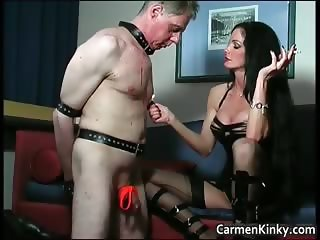 Kinky and weird dark head slut tied dude part2
