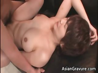 Nasty asian MILF gets jizzed after part4