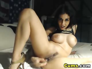 Busty Desi Babe Playing her Tight Pussy HD