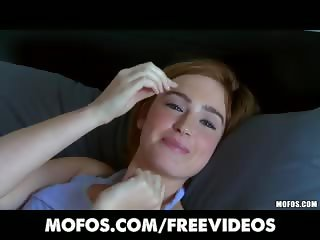 Perky redhead amateur Jodi Taylor is convinced to try anal