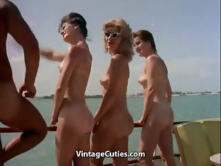 Naked Nudist Party Boat Ride