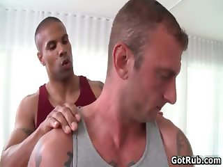 Muscled tattooed gay bear fucks part3