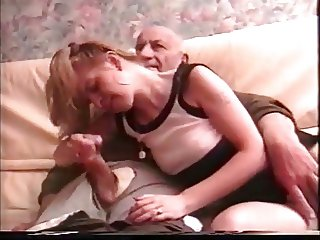 Old grandpa is cumming (handjob)
