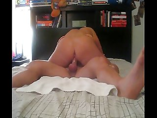 Cowgirl with a cockring