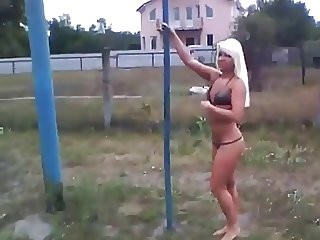 pole dance in the park