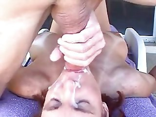 Mouth fuck and hot facial