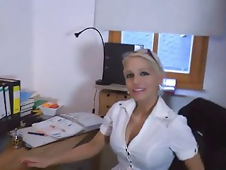 Blonde German fucks Boss