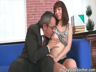 Sexy brunette hoe gets aroused for some part1