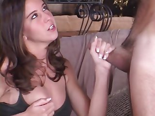 Hottie Brooke Haven giving a handjob