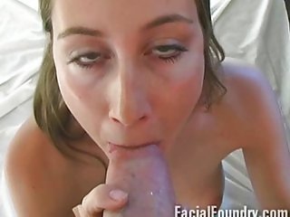 She struggles to deepthroat