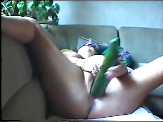 German BBW with cucumber