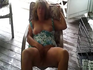 Horny mature masturbates at home