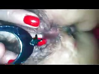 Ripe and juicy pussy stuffed