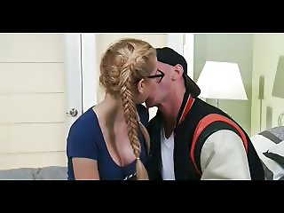 Shy blonde college student turns into a slut