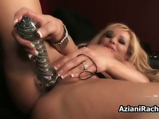 Busty blonde milf gets horny dildo part2