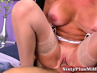 Blonde big-tit grandma Stella