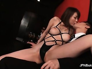 Hot asian babe gets horny making out part6