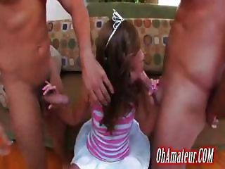 sexy young princess getting two cocks