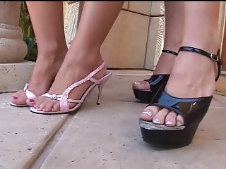 2 Blonde Teens In A Foot Fetish Fuck