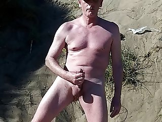 exhibitionist scottish showing on beach