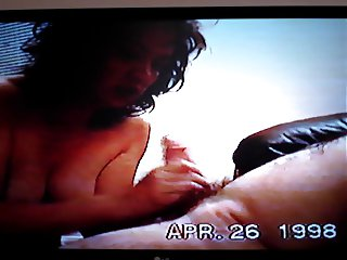 Mature fat asian slut dick sucking hairy cock to my balls