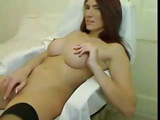 British Babe Flashes at Work Then Plays at Home