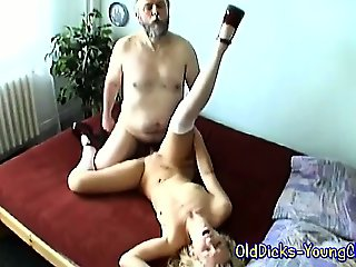Blonde likes them old and rough