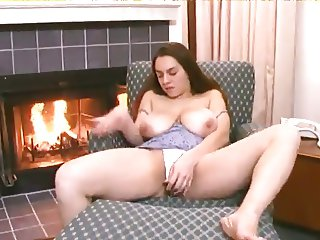 ugly bitch licks her own nipples
