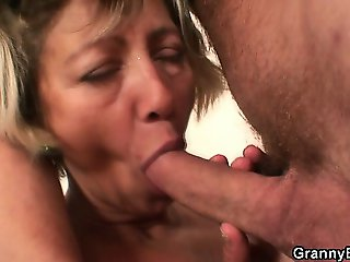 Hangover cure is her mature pussy
