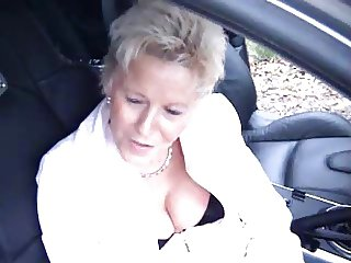 German mature dogging in forest