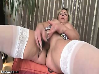 Horny mature whore goes crazy part3