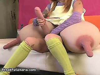 Horny brunette babe goes crazy rubbing part4