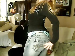Sexy Princess Ass Tease Denim Jeans JOI