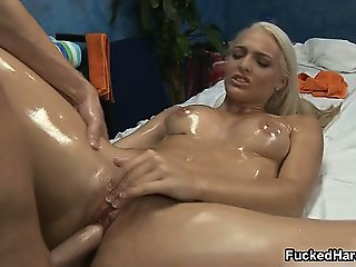Sexy blonde babe gets horny getting her part4