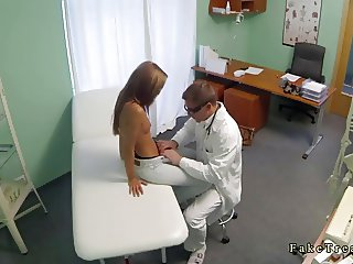 Shaped brunette babe likes to fuck her doctor