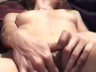 Rubbing my clit and shaved pussy