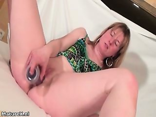Huge hard and long dildo is deep part6