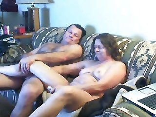 Watch mom and daddy home alone having fun. Hidden cam